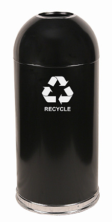 Witt Industries 415DTBK-R Indoor Recycling Container w/ 15-Gallon Capacity, Black Finish