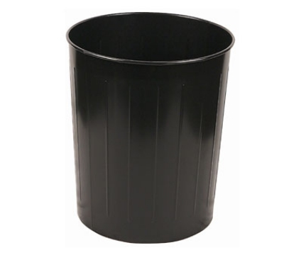 Witt Industries 5BK Large Round Indoor Standard Trash Can w/ 49.6-qt Capacity, Black