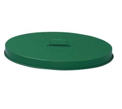 Witt Industries FT255P 24-in Outdoor Flat Top Trash Can Lid, Steel w/ Green Finish