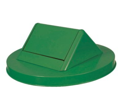 Witt Industries SWT55GN 23.75-in Swing Top Lid For Outdoor Trash Cans, Green Steel