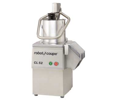 Robot Coupe CL52E Commercial Food Processor - Grating Slicing Discs, Stainless Steel