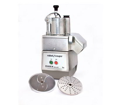 Robot Coupe R602X Commercial Food Processor w/ Half Moon Pusher, Metal Base & 1-Speed