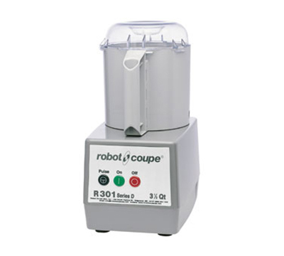 Robot Coupe R301B Commercial Food Processor w/ 3.5-qt Plastic Bowl Attachment w/ Handle