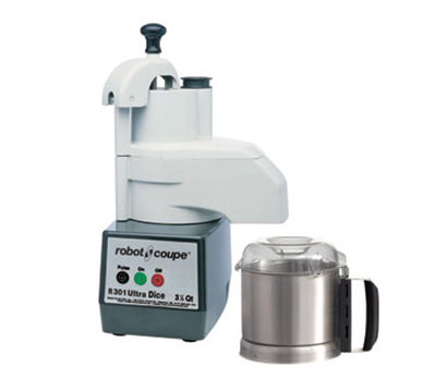 Robot Coupe R301ULTRADICE Food Processor w/ 3.5-qt Stainless Bowl & Continuous Feed Attachment
