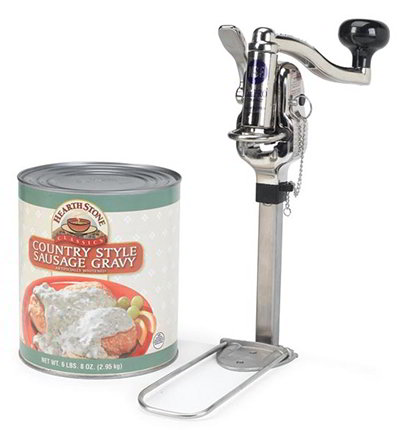 Nemco 56050-1 Compact Permanent Can Opener w/ Gearless Drive 10-Can Capacity Stainless Aluminum