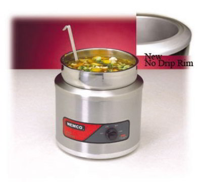 Nemco 6101A-ICL-220 11-qt Countertop Warmer Insert Cover & Ladle Restaurant Supply