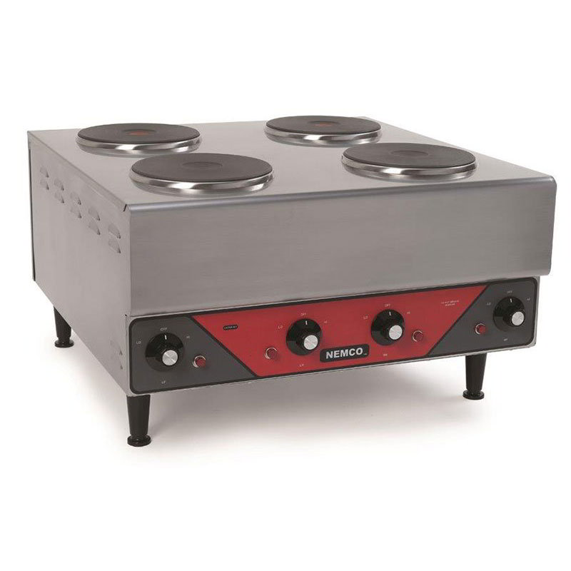 Nemco 6311-2-240 Hot Plate w/ 4-Burners & 6-Postion Temp Control, 14.5x24.13x24-in, 240V