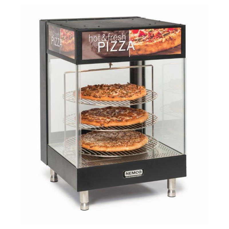 "Nemco 6421 Countertop Pizza Merchandiser - 3-Tier, 18"" Racks, Adjustable Temp 120v"