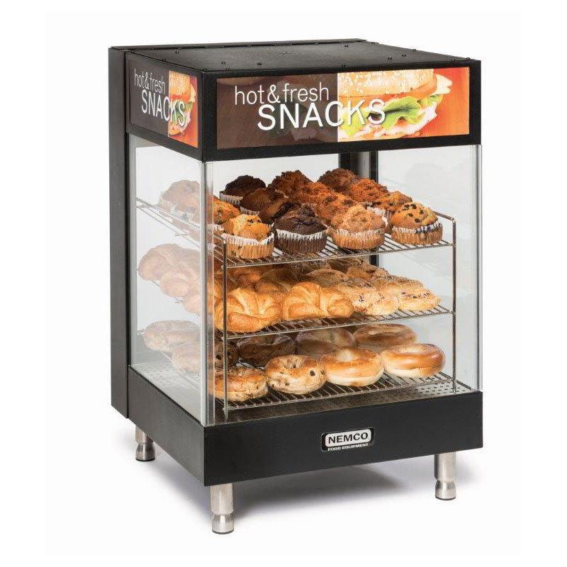 """Nemco 6425 Countertop Snack Merchandiser - 3-Tier, 19"""" Angled Square Shelves 120v"""