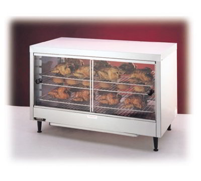 "Nemco 6462 Heated Display Case - (3) Shelf, Sliding Doors, 25.63x40x20.25"","