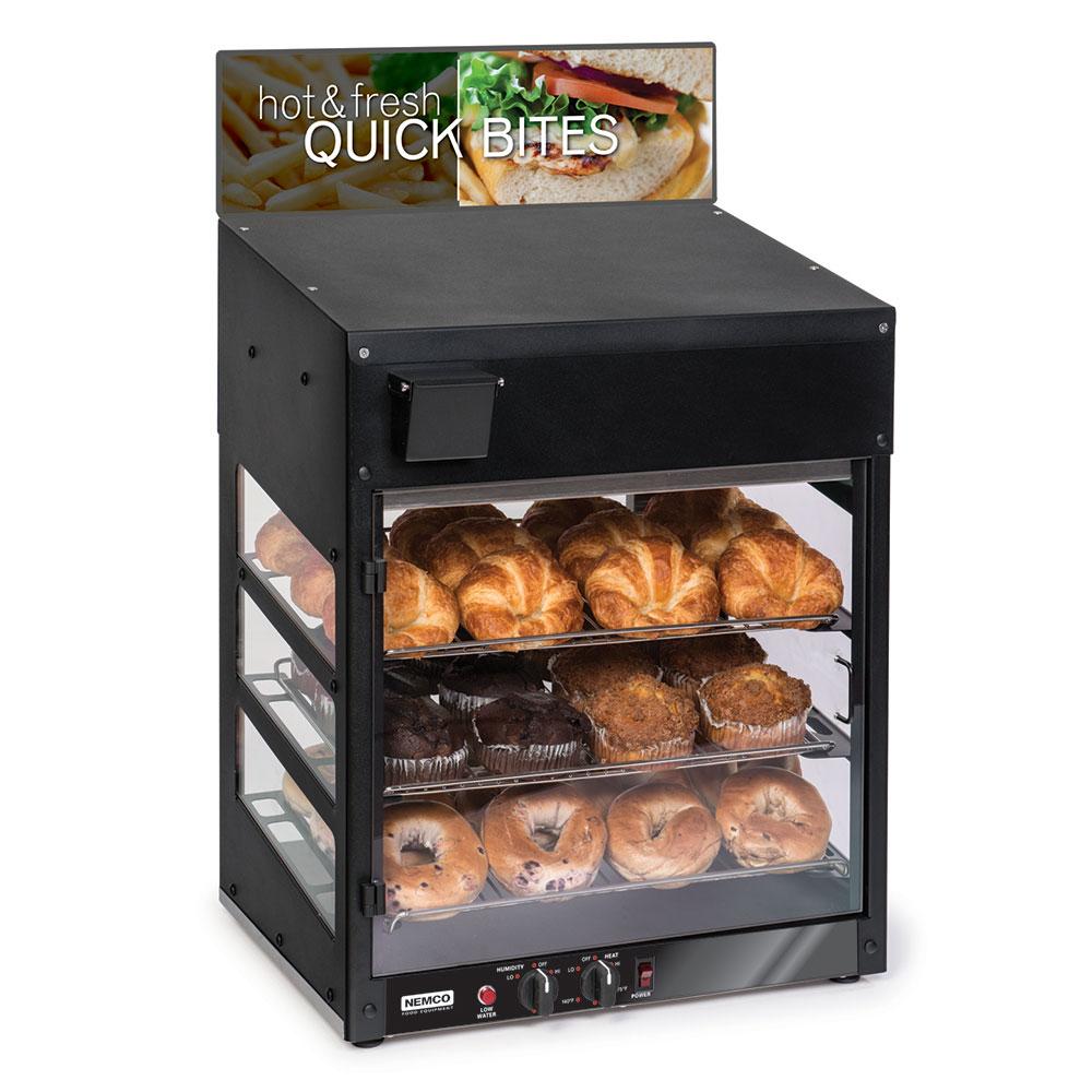 """Nemco 6475 120V 20"""" Countertop Heated Merchandiser - (3)Wire Shelves 120V/60/1-ph"""