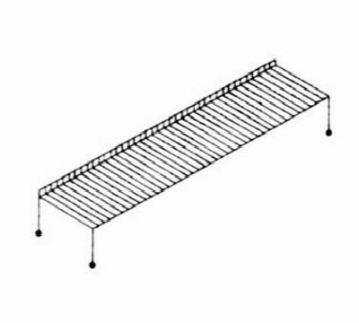 Nemco 66811 Wire Rack for 6431 Top Shelf 5 x 40 x 17-3/4-in NSF Restaurant Supply