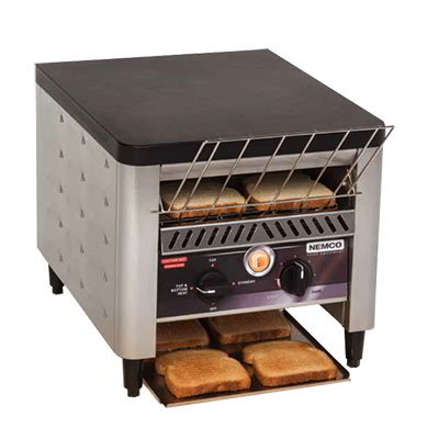 Nemco 6805 3-Slice Conveyor Toaster - 1000-Slice/hr Capacity, Stainless/Black