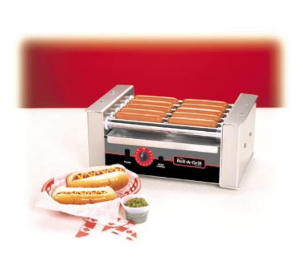 Nemco 8010VS-220 Roll-A-Grill Hot Dog Grill w/Bun Warmer & Guard Combo, 10 Dogs