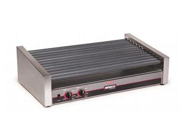Nemco 8033SXSLT 55 Hot Dog Roller Grill - Slanted Top, 120v