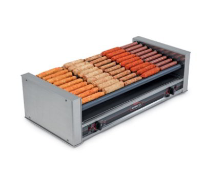 Nemco 8036-SLT Slanted Hot Dog Grill w/ Chrome Rollers & 36-Hot Dog Capacity, 120/1 V
