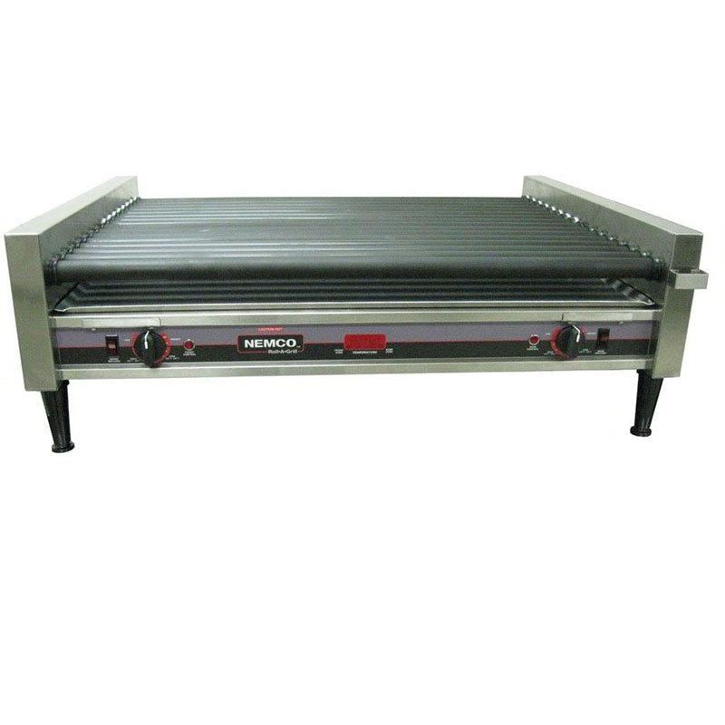 Nemco 8050SX-RC 50 Hot Dog Roller Grill - Flat Top, 12