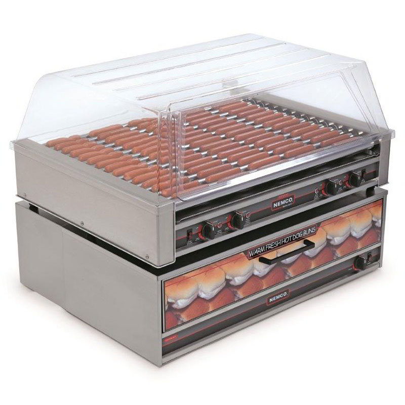 Nemco 8075 75 Hot Dog Roller Grill - Flat Top, 120v