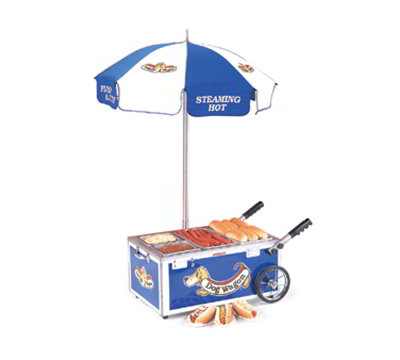 Nemco 6550-DW3 Mini Countertop Hot Dog Steamer Cart w/ Pan Configuration 3, 120/1V, Blue