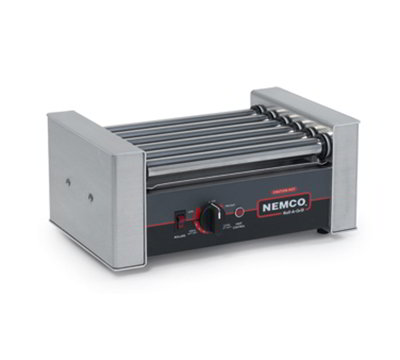 Nemco 8010SX Hot Dog Grill w/ 6-Coated Rollers & 200-Hot Dogs Per Hour Capacity, 120/1V, 2.8-amps