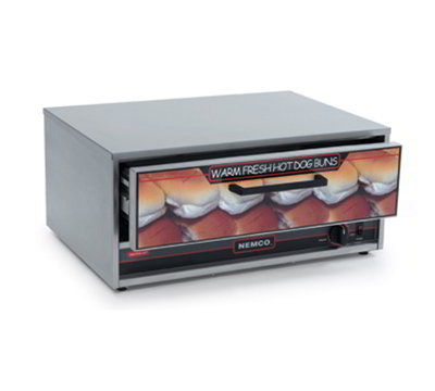 Nemco 8045N-BW-220 Bun Warmer w/ 32-Bun Capacity, Open Sliding Door & 23x17.5-in, 220/1V, 4-amps