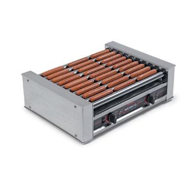 Nemco 8027-220 27 Hot Dog Roller Grill - Flat Top, 220v