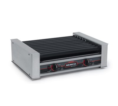Nemco 8027SX 27 Hot Dog Roller Grill - Flat Top, 120v
