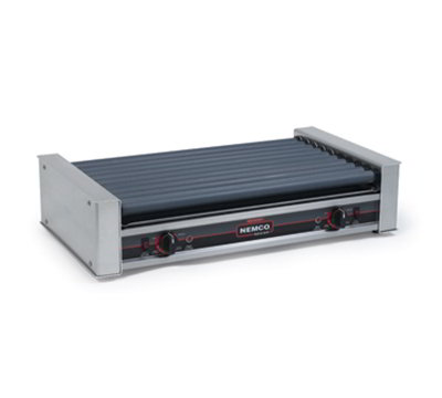 Nemco 8036SX Hot Dog Grill w/ 10-Coated Rollers & 720-Per Hour Capacity, 120/1V, 12.5-amps