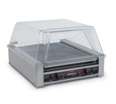 Nemco 8018SX-220 18 Hot Dog Roller Grill - Flat Top, 220v