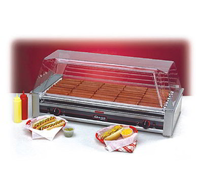 Nemco 8045SXW Hot Dog Grill w/ 16-Coated Rollers & 900-Per Hour Capacity, 120/1V, 15-amps