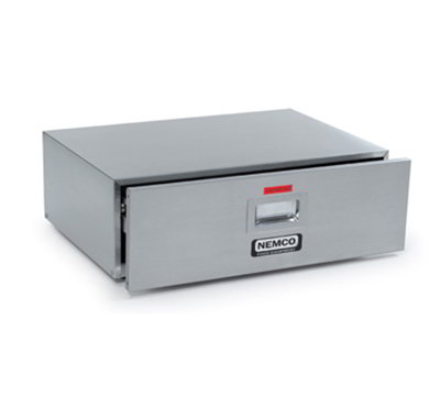 Nemco 8048-BW-220 Bun Warmer w/ 48-Bun Capacity, Open Sliding Door & 22x15.25-in, 220/1V, 0.5-amps