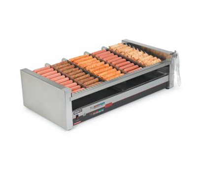 Nemco 8250-SLT 50 Hot Dog Roller Grill - Slanted Top, 120v