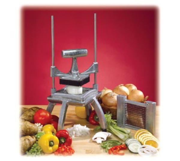 Nemco 56500-3 Easy Chopper II 4-1/4 in Cutting Area 1/2 in sq. cut Weighted Handle Restaurant Supply