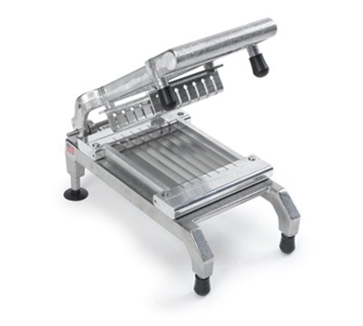 Nemco 55975-2SC Chicken Slicer w/ .25-in Scalloped Cut , Unsharpened Blades & Rubber Bumpers