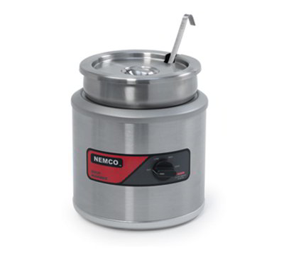 Nemco 6102A-220 7-qt Round Countertop Cooker Warmer w/ Adjustable Thermostat, 3.5-ft Cord, 220/1V