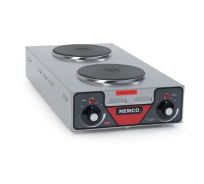 Nemco 6310-3 Hot Plate w/ 2-Veritcal Burners & 6-Postion Temp Control 5.13x12.13x25.5-in 120V