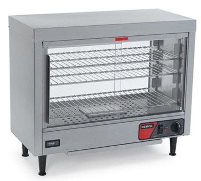 Nemco 6461 Heated Display Case w/ Sliding Doors, 3-Shelves & 23.75x28.13x13.06-in, 5.8-amp