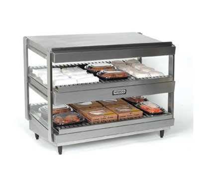 Nemco 6480-18S 25.38-in Heated Shelf Merchandiser w/ Slanted Dual Shelf & 7.2-amps, Stainle