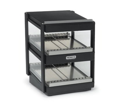 Nemco 6480-24S-B 24-in Heated Shelf Merchandiser w/ Slanted Dual Shelf & 9.7-amps, Black