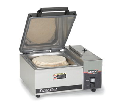 Nemco 6600 Countertop Steamer w/ Self-Contained Water Reservoir & Half Size Pan, 120/1 V