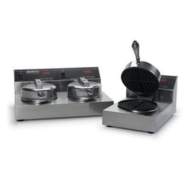 Nemco 7000-S Single Waffle Baker w/ Digital Control & Non Stick Coating, 7.4-amps 120/1V