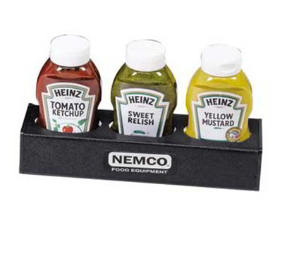 Nemco 88500-CO6 Sauce Organizer w/ 3-Bottle Capacity, Black