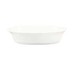 "CAC International BKW9 9-oz Accessories Oval Baking Dish - 6-3/4x5-7/8x1-1/2"", Porcelain, Bone White"