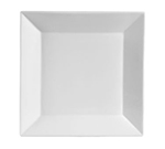 "CAC International KSE5 5"" Kingsquare Square Bread Plate - Porcelain, Super White"