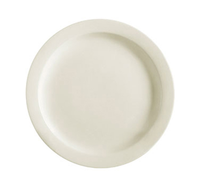 "CAC International NRC6 6-1/2"" NRC Bread Plate - Narrow Rim, Ceramic, American"