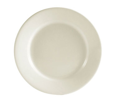 "CAC International REC9 9-3/4"" REC Dinner Plate - Ceramic, American White"