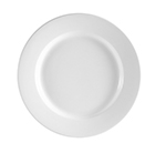 "CAC International RCN8 9"" Clinton Dinner Plate - Rolled-Edge Porcelain, Super White"