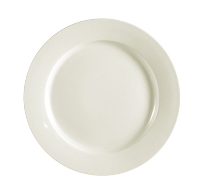 "CAC International REC16 10.5"" REC Dinner Plate - Ceramic, American Wh"