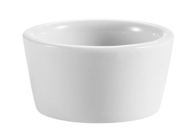 CAC International RKF2P 2-oz RKF Ramekin - Porcelain, Super White