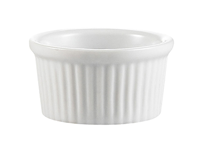 CAC International RKF4 4-oz RKF Ramekin - Fluted, Porcelain, Super Whit